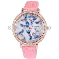 Free shipping New watches women luxury brand Fashion Rhinestone Watches Ladies' Diamonds Dress watches Quartz Leather Wristwatch