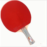 Wholesale Retail Original Double Fish 1A Shake-Hands Grip Short Handle Finished Product Table Tennis Racket Free Tennis Ball