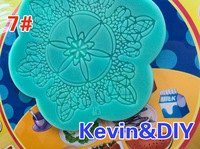 MIX 2pcs/lot New arrival Free shipping snowflake crown instant lace mold silicon kitchen accessories decoration for cake Fondant