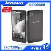 "2014 original new lenovo P780 MTK6589 5.0"" gorilla glass OTG 3G 4000mAh Mobile Phone Android 4.2 Russian ROM UA cellphone"