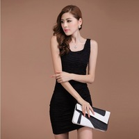 Free shipping 2013 summer new Slim thin vest dress Korean version of the small small harness bottoming vest skirt women
