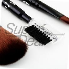 5PCS Set Professional Cosmetic Makeup Brush Set Styling Tools Foundation Comb Make up Toiletry Kit Wool