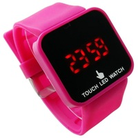 Retail 12 Color LED Touch Screen Watch for Children Women Men / Silicone Sports Watches 2013 Hot Selling Digital LED011