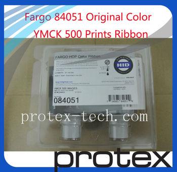 Original  YMCK 84051 ribbon,500 images for Fargo HDP5000 card printer & Free shipping