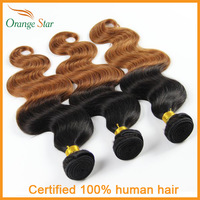 Hot Brazilian Ombre Hair Weave Body Wave 3 Bundles Lot Two Tone Color 1b/30# 10''-30'' Tissage Ombre Human Hair Extensions BB301