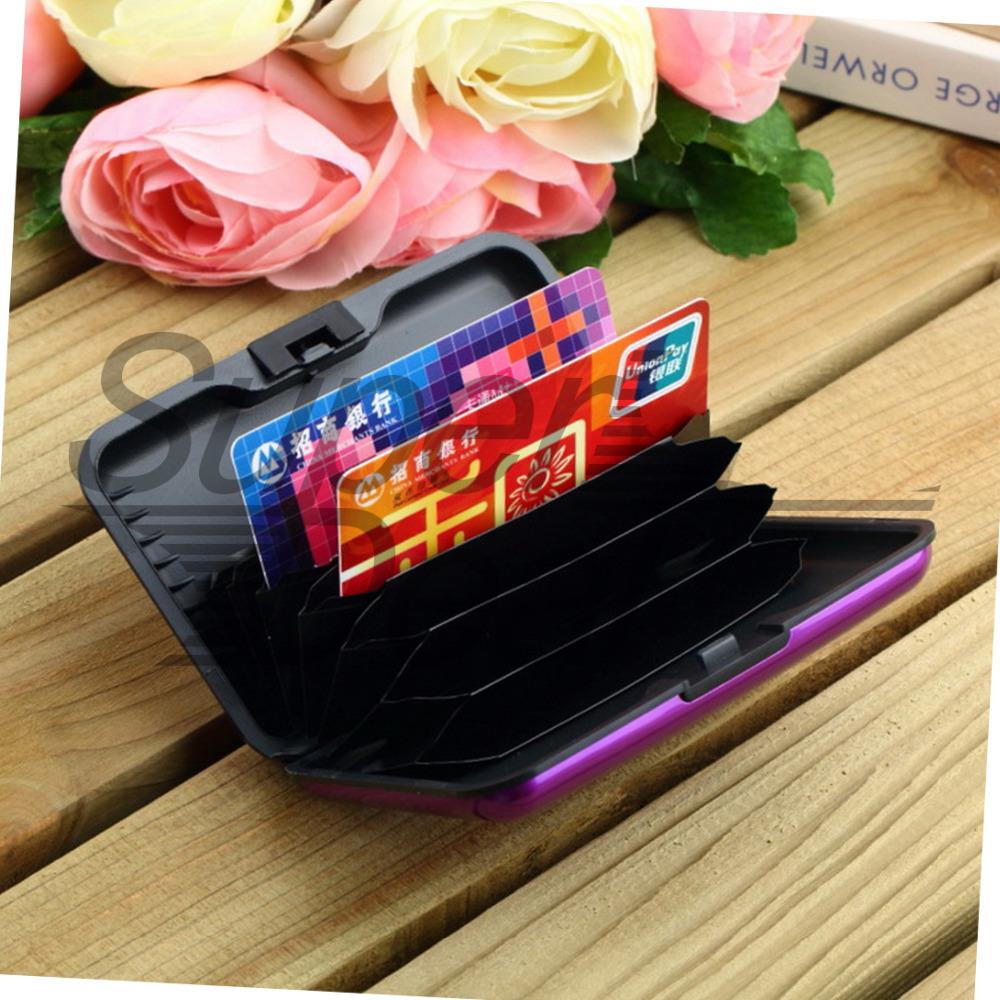 1pcs ID Credit Card Wallet Waterproof Business Holder Aluminum Metal Case Box Brand Free / Drop Shipping(China (Mainland))