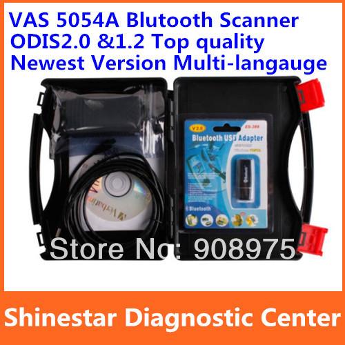 VAS PC 2014 VAS 5054A ODIS2.0 ODIS1.2 Bluetooth Diagnostic Tool Multi-Language Best Quality A++ 1 Year Warranty(China (Mainland))