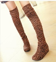 New arrival 2013 ladies fashion flat bottom knight boots for women  over the knee high leg suede boots new brand free shipping