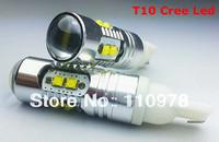 Free Shipping 4 Piece T10 501 W5W NEW MODEL interior SIDE LIGHT WHITE LED 50W CREE Q5 bulbs