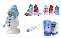 Free Shipping, New style usb christmas snowman ,chirstmas gift decoration ,snowman ornament  plastic