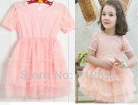 2015 new Summer baby girls dress kids  soft lace princess dress on sale tutu children dress D004 cute party dress free shipping