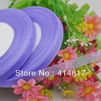 """100Y 3/8"""" Sheer Organza Ribbon Craft/Wedding/sewing purple Color RA103"""