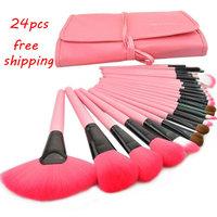 Professional 24pcs Makeup Brush Set Kit Makeup Brushes & tools Make up Brushes Set Free Shipping