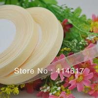 """100Y 3/8"""" Sheer Organza Ribbon Craft/Wedding/sewing Beige Color  RA108"""