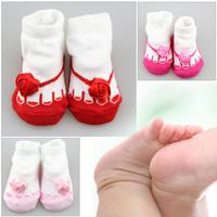 Free shipping 24pcs=12pairs/set Toddler Infant Baby Girls Flower Socks Cotton Shoes Newborn 0-6Month