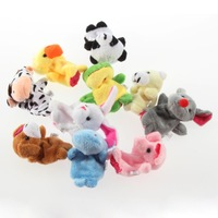 FREE SHIPPING 100pcs/lot NEW BABY KIDS PLUSH Educational TALKING FARM ZOO ANIMAL FINGER PUPPETS TOYS PARTY BAG FILLER