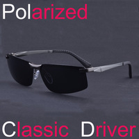 Aluminum Magnesium Alloy Polarized Sunglasses Driver Mirror Sunglasses Men Fishing Mirror