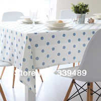 Get fresh rustic dot cloth dining table cloth coffee table cotton gremial table cloth