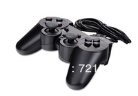 Joystick Game Pad Black USB Vibration Shock PC Computer Gamepad Game Controller *FREE SHIPPING