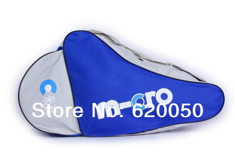 Free shipping 20-metre-tall skating package skating bag roller skates skating shoe bag inline shoulder bag single tier(China (Mainland))