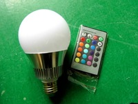 led lamp 10W rgb ball lamp  color changing from the remote control   ktv stage bulb led lights