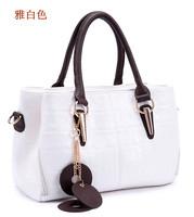 2014 women's fashion handbag genuine leather cowhide handbag shoulder bag messenger bag leather bag big waxing oil women bag