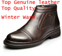2014 new winter men's snow boots 100% Top quality genuine leather martin boots fashion brand Business casual mens leather boots