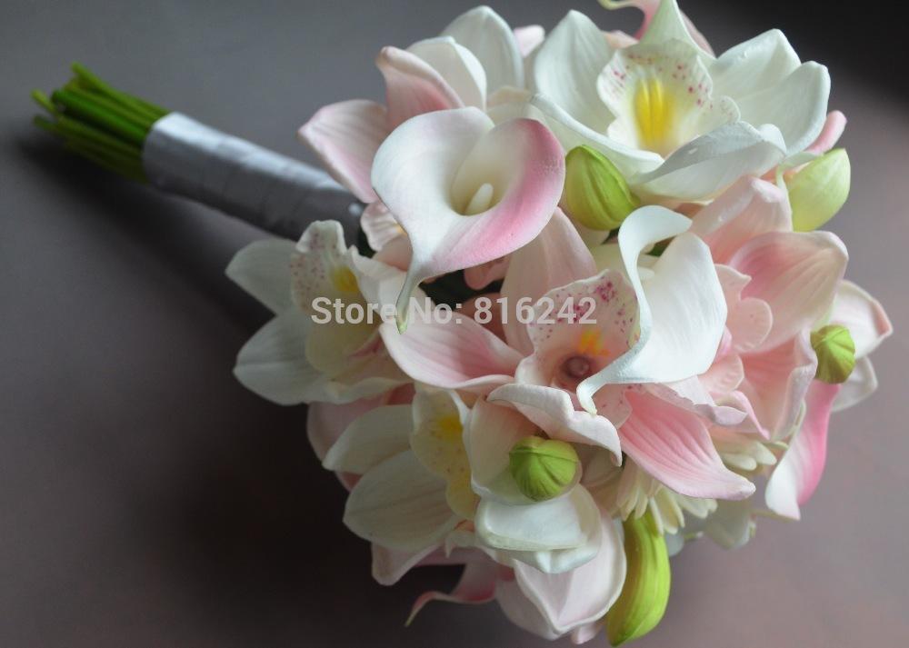 Orchid Cymbidium White Pink Cymbidium Orchids