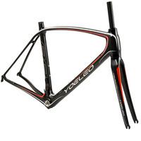 YOELEO 88 Carbon Bike Frame Size: 47/50/53/56/59CM Bicycle Frameset +Fork+Headset+Rear Derailleur+Spacers+Screw