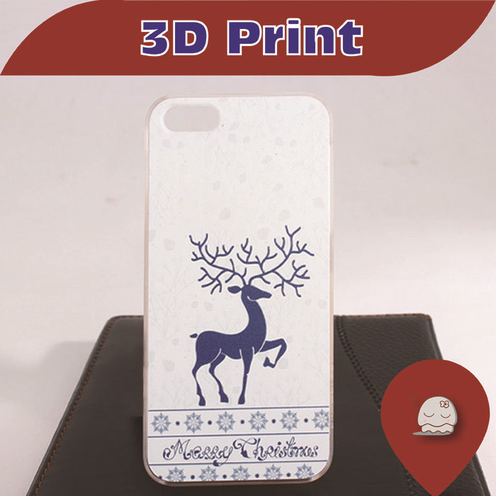"""Christmas Deer "" New 2013 Arrival Hot Sale DIY 3D Mobile case For Apple Iphone 5 5S 5G UltraThin Frosted Shell 736(China (Mainland))"