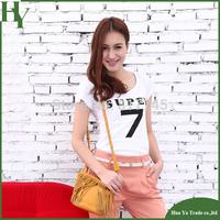 Y5 Hot Sale Top 2014 Fashion Slim Women Summer Casual Short Sleeve T Shirt