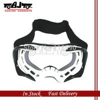 BJ-MG-004 White  colors Motocross Motorcycle Dirt Bike ATV Goggles Frame Clear Lens Series 18