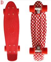 New Polka Dots Printed 22inch Penny skateboard Bantom Mini Skate cruiser Board Longboard skateboards complete