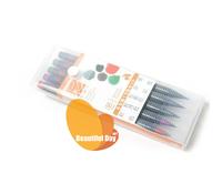 Original Japan akashiya watercolor brush marker pen 5 colors/set,soft brush marker pen