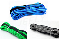 Free Shipping  30m 9mm Dyneema Synthetic Winch Rope with thimble Vehicle Tug Winch Line