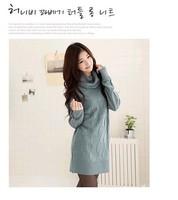 2013 autumn and winter Korean fashion warm sweater long section of diamond charm