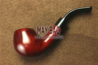 "5.4"" Bent Red Wood Tobacco Smoking Pipe 9mm Tobacco Pipe -PS-843"