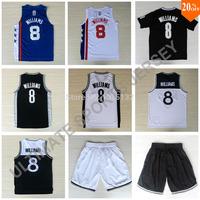 Deron Williams Jersey Brooklyn #8 Williams Basketball Jersey White, Black, Christmas, Throwback Free Shipping
