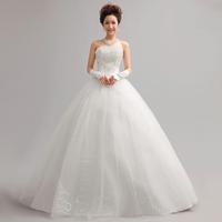 Free Shipping New 2014 Fashion Sweet Princess Paillette Strap Sex Tube Top Wedding Dress MZY