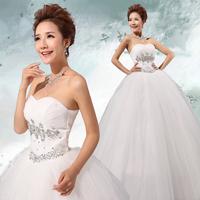 Free Shipping 2014 New Wedding  Dress For Women Plus Size  Diamond  Decoration Bride  Bandage Dresses  MZY