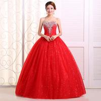 Free Shipping New 2014 Fashion High-quality  Handmade Diamond Decoration Red Mermaid Wedding Dresses MZY