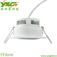 Free shipping 3w AC85-256V led recessed ceiling lighting ,  270-300lm led  down lighting