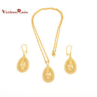 2013 fashion jewelry New Design Popular 24k Gold Filled Clasp Earrings And Pendant Necklace Christmas Jewelry Sets For Girl G662
