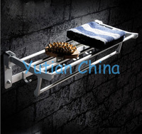 HOT SELLING, FREE SHIPPING, Bathroom towel holder, Foldable  towel rack,50cm oxidation aluminium  towel rack with hooks,YT-4002A