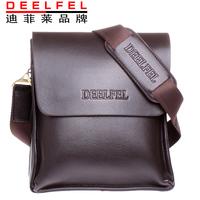 DEELFEL brand man bag leather shoulder bag Messenger bag Korean version of casual men's leather business bags