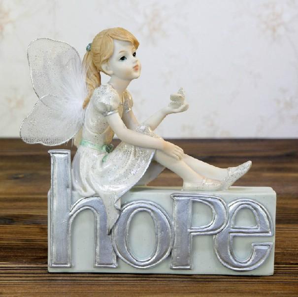 Creative fashion resin crafts European-style home furnishings beautiful flower fairy angel decoration ornaments wedding gift(China (Mainland))