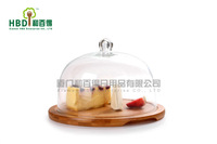 goat cheese board,french cheese platter,wooden chopping boards with glass dome,Free Shipping G1114
