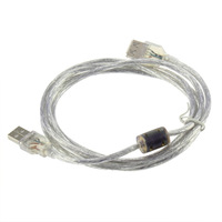 New arrival Extension Cable Transparent New 1.4m USB 2.0 M Male to F Female  New Free Shipping