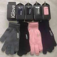 2 Pairs Free Shipping, iGlove Screen Touch Gloves for Men and Women Touch Glove Capacitive With 4 color Without box Package