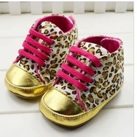Hot sales 2014 spring autumn infant 11cm-13cm gold leopard print comfortable non - slip child boots toddler baby shoes
